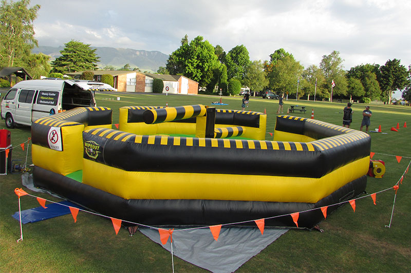 Wipeout in field - Party Hire in Tauranga