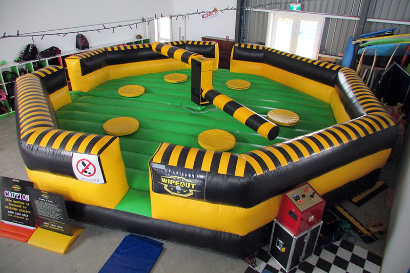 Wipeout setup - Party Hire in Tauranga
